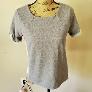 American Eagle Outfitters Gray Knit Blouse NWT S